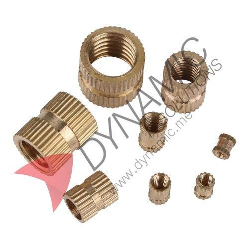 Brass Cylinder Threaded Round Insert Embedded Nuts