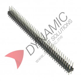 Pin Header Double Row 80 Pins (2x40) 2.54mm Pitch
