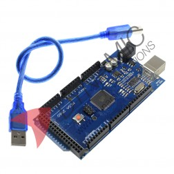 Arduino MEGA 2560 R3 ATmega16U2 Chip + USB Cable