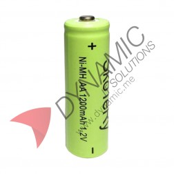 Battery NiMH Rechargeable 1.2V 1200mAh AA