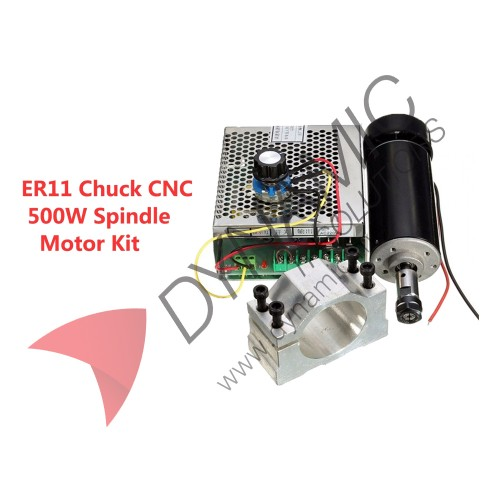 CNC Kit 500W Spindle ER11, PSU and Clamp