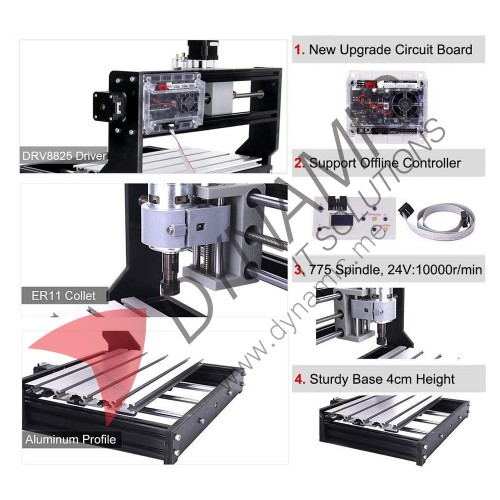 CNC 3018 Pro GRBL Control CNC Machine 3 Axis with Laser (5500mW)