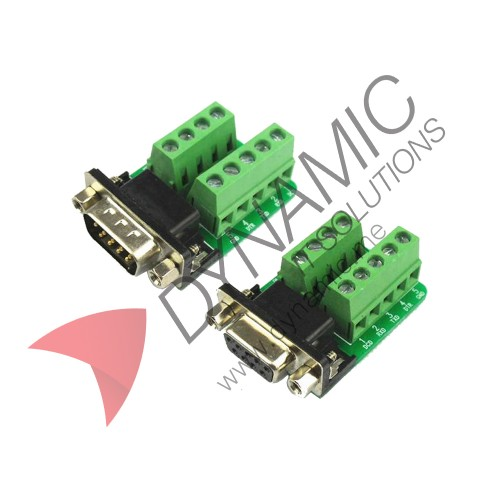 RS232 Serial To Terminal DB9 Connector Male Female