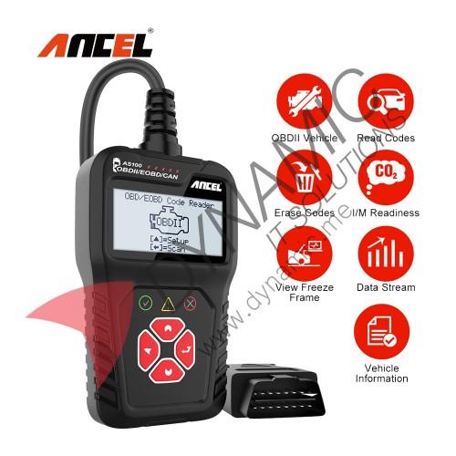 Ancel AS100 Car Diagnostic Tool Code Reader OBD 2 ELM327