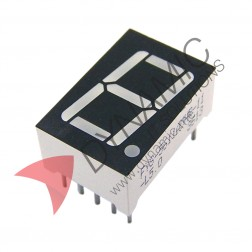 "7 Segment 1 Digit 0.36"" Red LED Common Cathode"