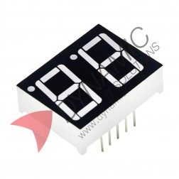 "7 Segment 2 Digits 0.28"" Red LED Common Cathode"