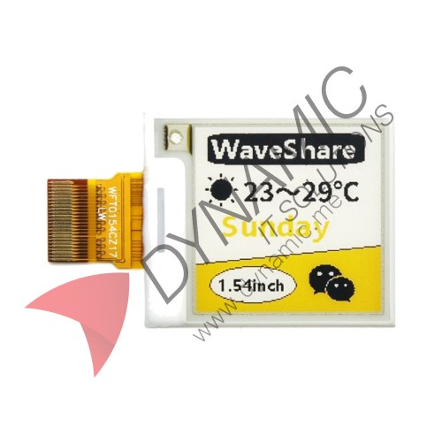 E-Ink Raw Display, 1.54 inch with PCB (Driver HAT)