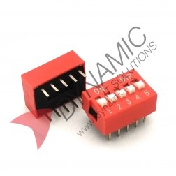 DIP Switch 5 Poles