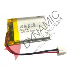 Lithium Polymer Rechargeable Battery 3.7V 083040 900 mAh (with PCM)