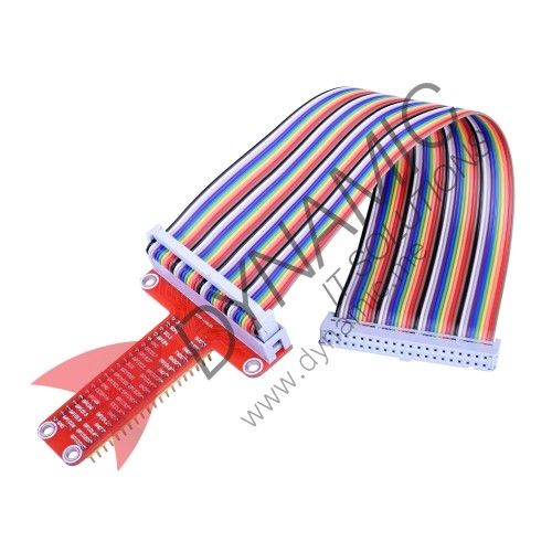 40 Pin GPIO Expansion Board + Cable (20cm) for Raspberry Pi