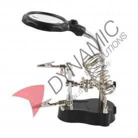 PCB Desktop Magnifier Clamp Soldering Holder